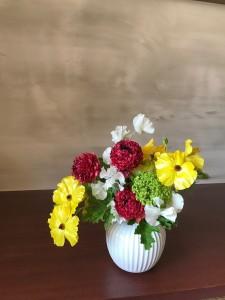 頂いた花瓶と花
